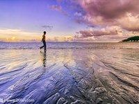 黑沙海滩的封面
