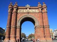 西班牙巴塞罗那凯旋门的封面