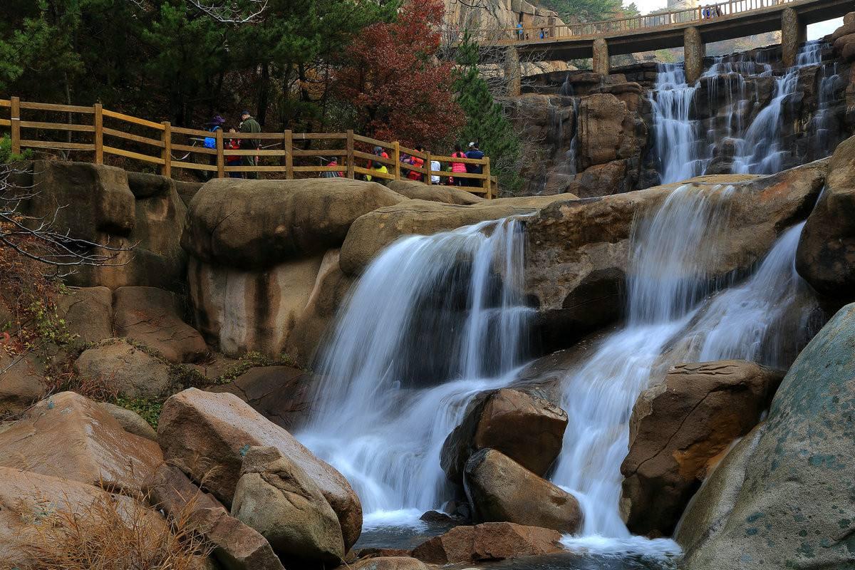 崂山北九水风景区的照片
